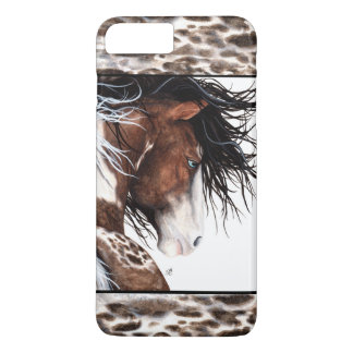 Majestic Pintaloosa Horse by BiHrLe iPhone Case