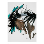 Majestic Pinto Horse by Bihrle Poster