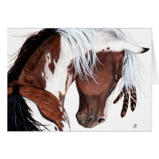 Majestic Pinto Paint Horse by BiHrLe Card