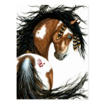 Majestic Pinto Paint Horse by Bihrle Post Card