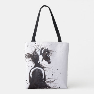 Majestic Pinto Paint Horse Tote by Bihrle