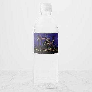 Majestic Purple, Arabian Nights Water Bottle Label