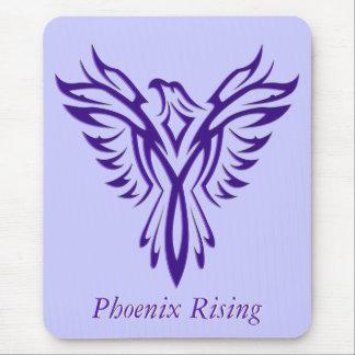 Majestic Purple Phoenix Rising Mouse Mat