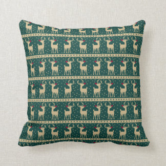 Majestic Rudolph Christmas Throw Pillow