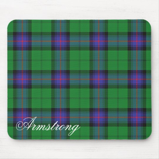 Majestic Scottish Clan Armstrong Tartan Mouse Mat