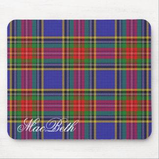 Majestic Scottish Clan MacBeth Tartan Mouse Mat