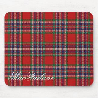 Majestic Scottish Clan MacFarlane Tartan Mouse Mat
