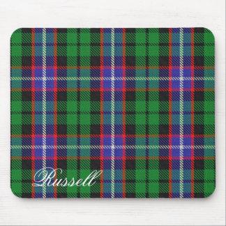 Majestic Scottish Clan Russell Tartan Mouse Mat