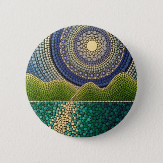 Majestic Sky 6 Cm Round Badge