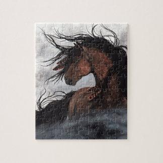 Majestic Smokey Bay Horse by Bihrle Jigsaw Puzzle