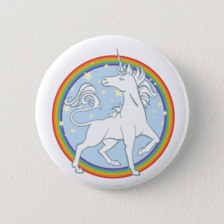 Majestic Sparkle Rainbow Unicorn 6 Cm Round Badge