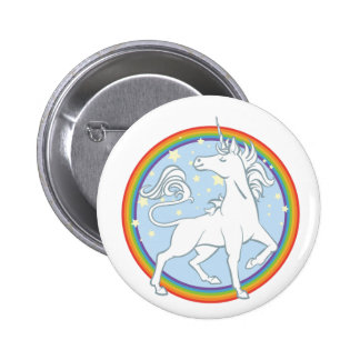 Majestic Sparkle Rainbow Unicorn 6 Cm Round Badge