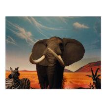Majestic Stature Postcard