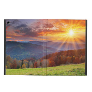 Majestic sunrise in the mountains landscape case for iPad air