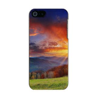 Majestic sunrise in the mountains landscape incipio feather® shine iPhone 5 case