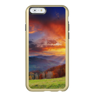 Majestic sunrise in the mountains landscape incipio feather® shine iPhone 6 case
