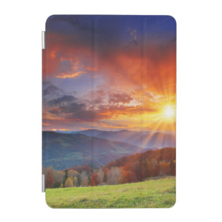 Majestic sunrise in the mountains landscape iPad mini cover