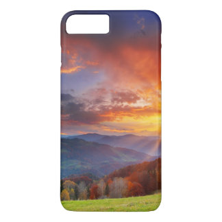 Majestic sunrise in the mountains landscape iPhone 7 plus case
