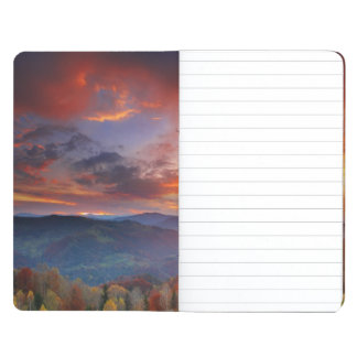 Majestic sunrise in the mountains landscape journal