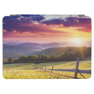 Majestic sunset in the mountains iPad air cover