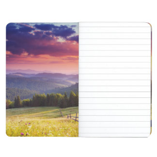 Majestic sunset in the mountains journal