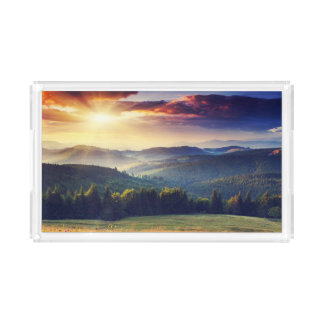 Majestic sunset in the mountains landscape 4