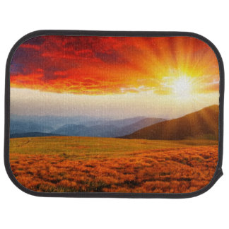 Majestic sunset in the mountains landscape 5 car mat