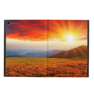 Majestic sunset in the mountains landscape 5 case for iPad air