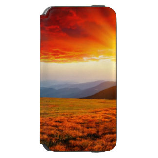 Majestic sunset in the mountains landscape 5 incipio watson™ iPhone 6 wallet case