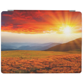 Majestic sunset in the mountains landscape 5 iPad cover