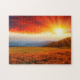 Majestic sunset in the mountains landscape 5 jigsaw puzzle