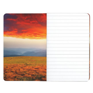 Majestic sunset in the mountains landscape 5 journal