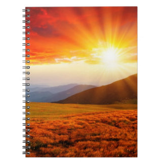 Majestic sunset in the mountains landscape 5 notebook