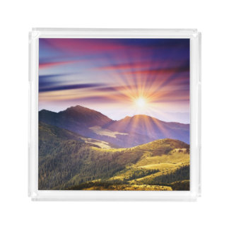 Majestic sunset in the mountains landscape 6
