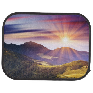 Majestic sunset in the mountains landscape 6 car mat