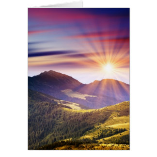 Majestic sunset in the mountains landscape 6 card