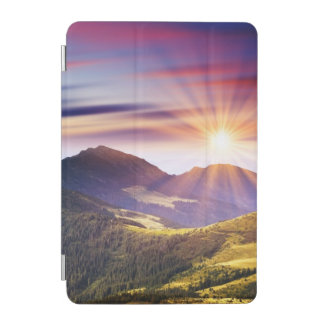 Majestic sunset in the mountains landscape 6 iPad mini cover