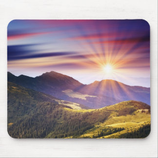 Majestic sunset in the mountains landscape 6 mouse mat