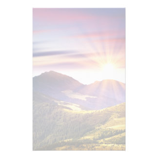Majestic sunset in the mountains landscape 6 stationery
