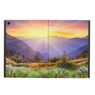 Majestic sunset in the mountains landscape case for iPad air