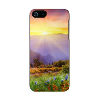 Majestic sunset in the mountains landscape incipio feather® shine iPhone 5 case