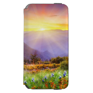 Majestic sunset in the mountains landscape incipio watson™ iPhone 6 wallet case