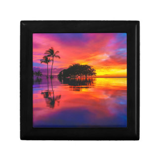 Majestic Sunset | Wailea Beach, Maui, Hawaii Small Square Gift Box
