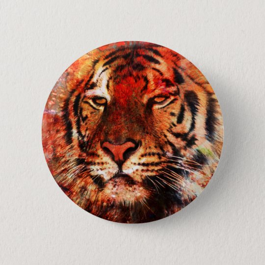 Majestic Tiger 6 Cm Round Badge