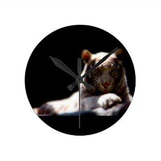Majestic Tiger Round Clock