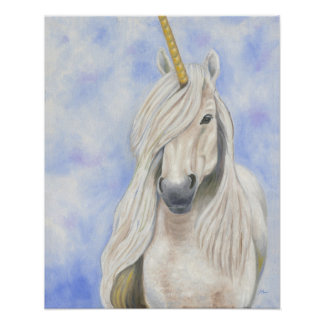 Majestic Unicorn Poster