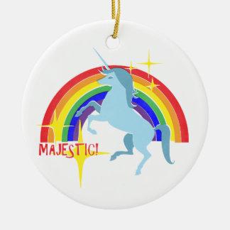 Majestic Unicorn Vintage 80's Style Christmas Ornament