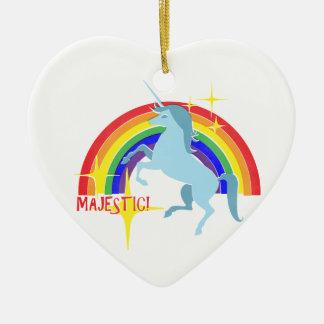 Majestic Unicorn Vintage 80's Style Ornament