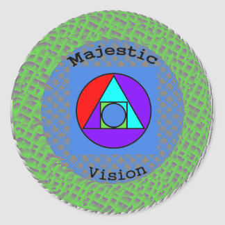 Majestic Vision Triangulation Series T-Shirt Classic Round Sticker