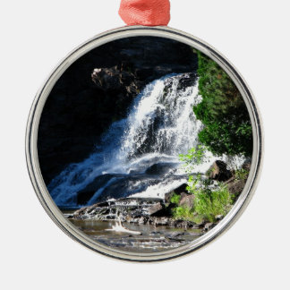 Majestic Waterfall at Gooseberry Falls – Nature Christmas Ornament